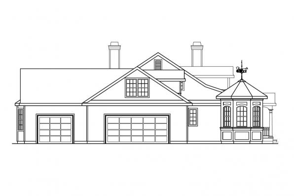 Ranch House Plan - Louisville 10-431 - Left Elevation
