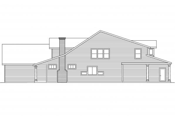 Ranch House Plan - Marion 30-174 - Right Elevation