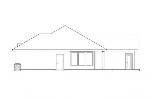Ranch House Plan - Midland 30-052 - Right Elevation