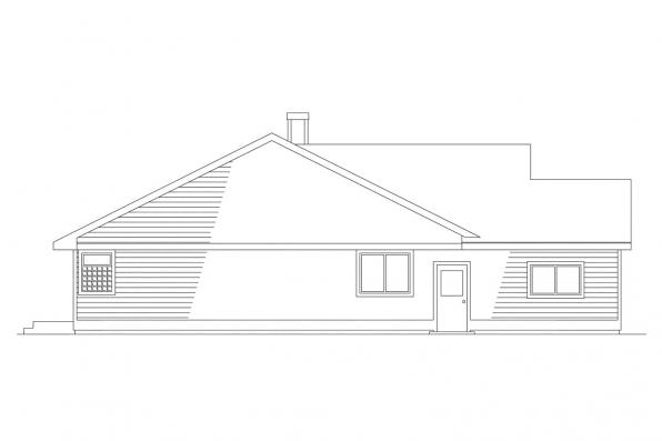 Ranch House Plan - Monroe 10-072 - Left Elevation
