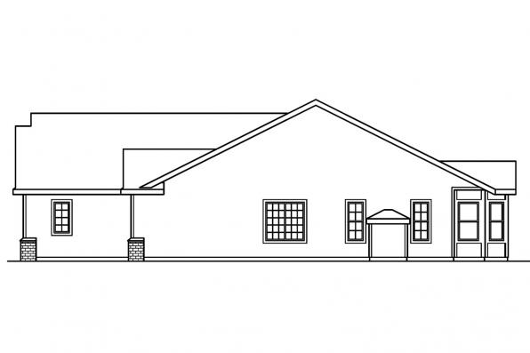 Ranch House Plan - Morely 30-266 - Right Elevation