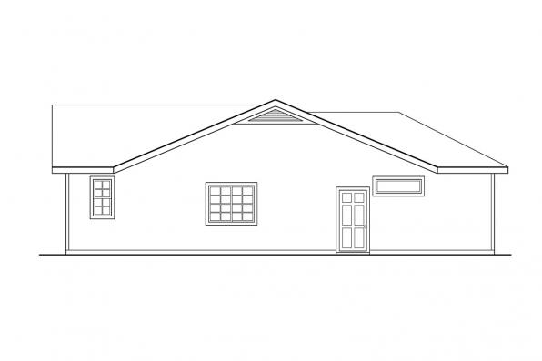 Ranch House Plan - Norden 10-216 - Left Elevation