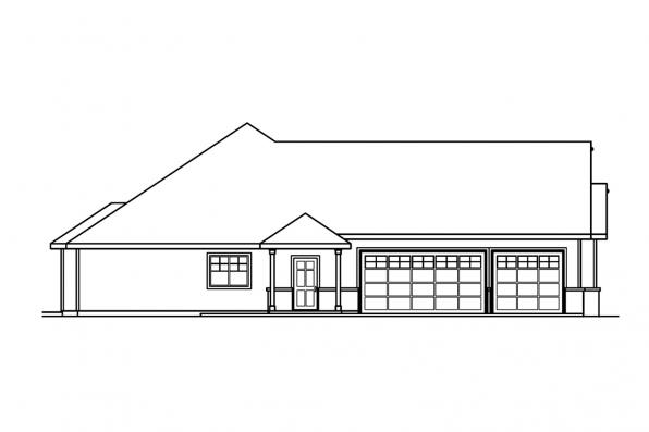 Ranch House Plan - Palmer 30-416 - Left Elevation