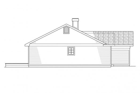 Ranch House Plan - Phoenix 10-061 - Left Elevation