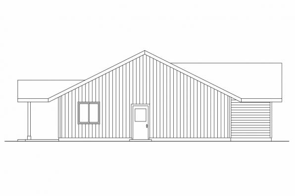 Ranch House Plan - Prichard 30-701 - Left Elevation