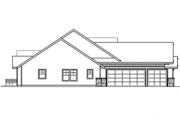 Ranch House Plan - Radisson 30-374 - Left Elevation