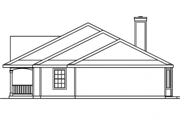 Colonial House Plan - Redmond 30-226 - Right Elevation