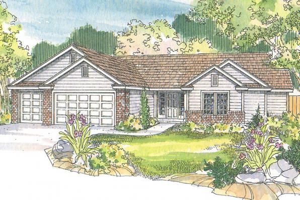 Ranch House Plan - Rollins 30-330 - Front Elevation