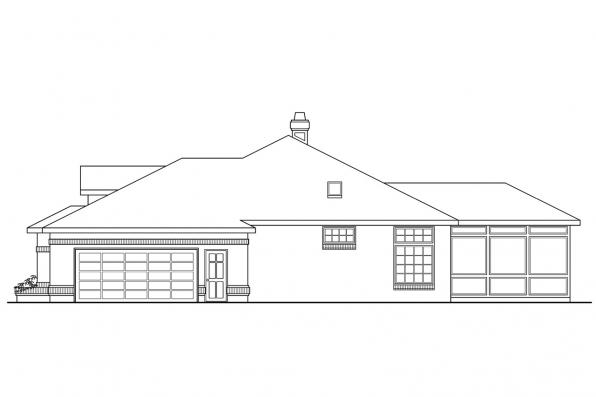Ranch House Plan - Sedalia 10-231 - Right Elevation