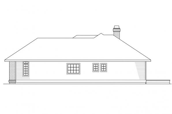 Ranch House Plan - Somerset 10-057 - Right Elevation