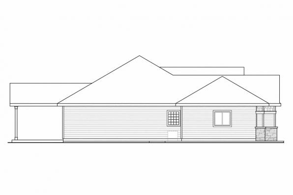 Ranch House Plan - Springwood 30-772 - Left Elevation