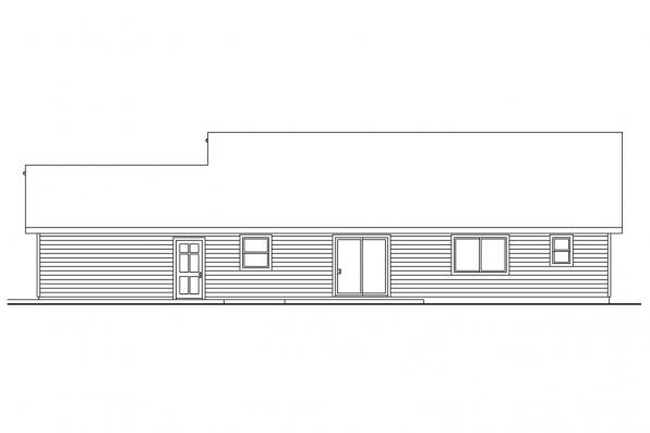 Ranch House Plan - Strathmore 30-638 - Rear Elevation