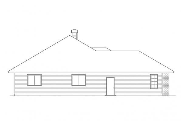 Ranch House Plan - Syracuse 30-063 - Left Elevation