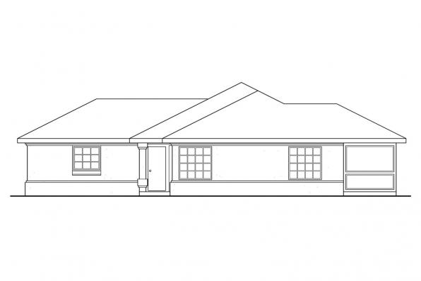 Ranch House Plan - Topaz 11-087 - Right Elevation
