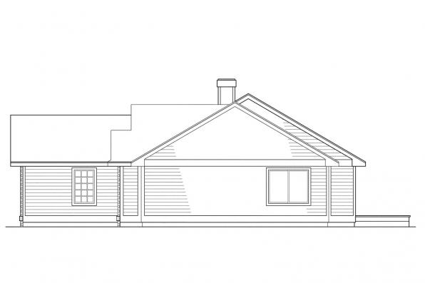 Ranch House Plan - Ventura 10-063 - Right Elevation