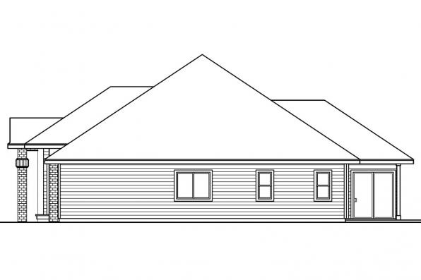 Ranch House plan - Vicksburg 30-567 - Right Elevation
