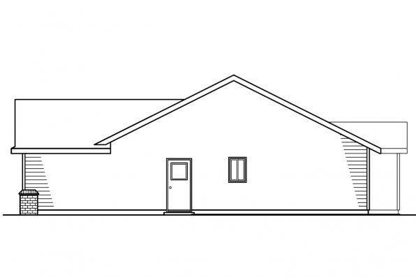 Ranch House Plan - Walsh 30-247 - Right Elevation