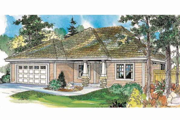 Ranch House Plan - Wheatfield 30-673 - Front Elevation