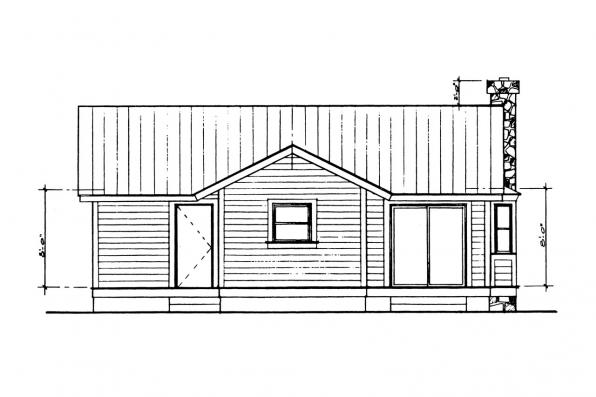Ranch House Plan - Windham 41-003 - Left Elevation