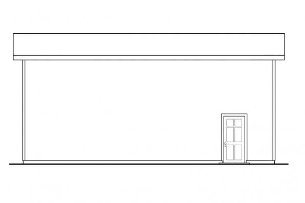 RV Garage Plan 20-090 - Left Elevation
