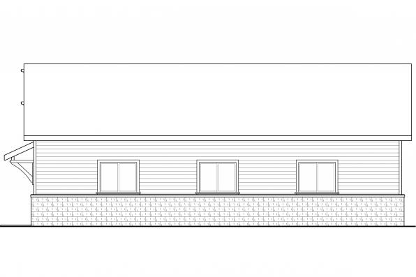 RV Garage Plan 20-131 - Right Elevation