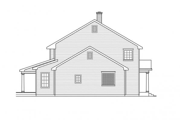 Saltbox House Plan - Kearney 30-062 - Left Elevation