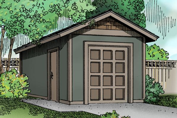 Storage Shed Plan 20-041 - Front Elevation