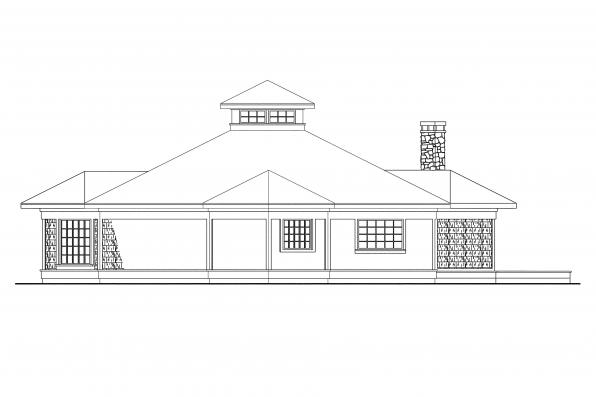 Shingle Style House Plan - Clematis 10-073 - Right Elevation