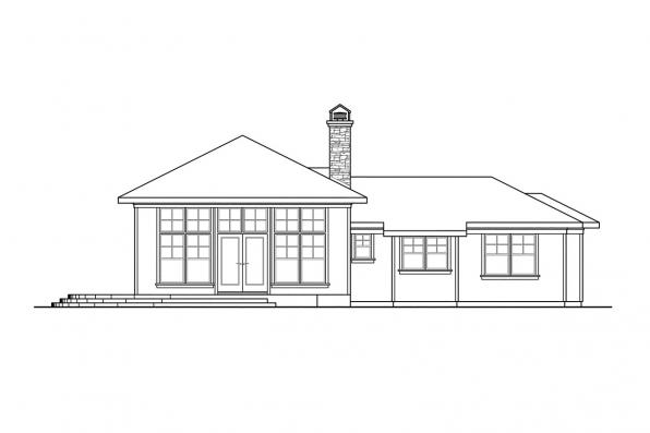 Shingle Style House Plan - Heartview 50-015 - Left Elevation