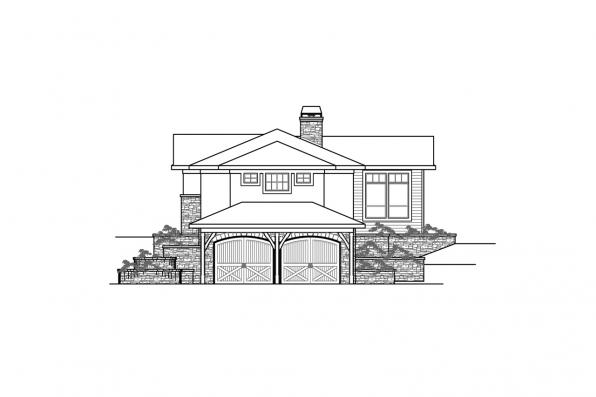 Sloped Lot House Plan - Delfino 31-062 - Right Elevation