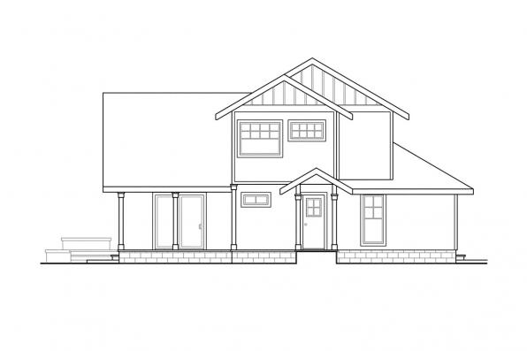 Sloped Lot House Plan - Fairview 51-008 - Left Elevation