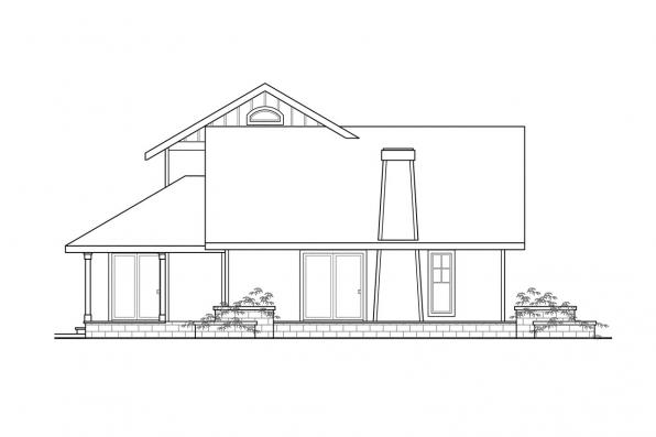 Sloped Lot House Plan - Fairview 51-008 - Right Elevation