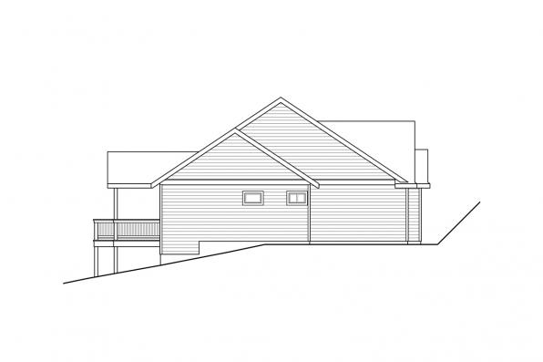 Sloped Lot House Plan - Lakeridge 31-069 - Left Elevation