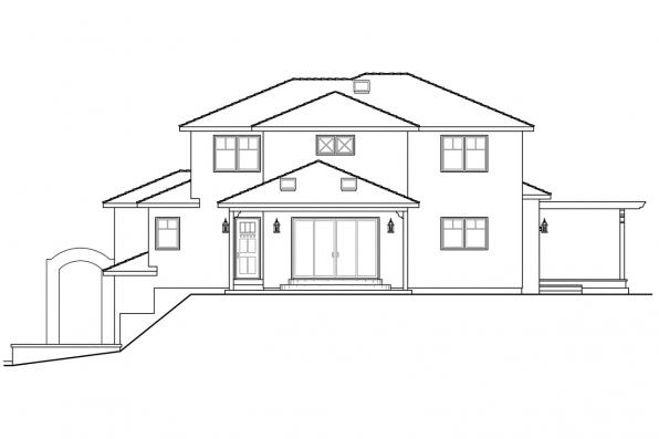 Sloping Lot House Plan - Santa Rosa 30-800 - Rear Elevation