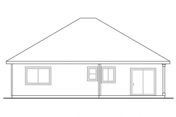 Small House Plan - Alden 30-904 - Rear Elevation