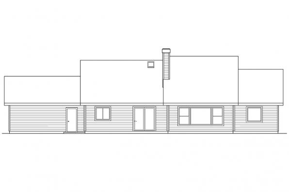 Small House Plan - Alpine 30-043 - Rear Elevation