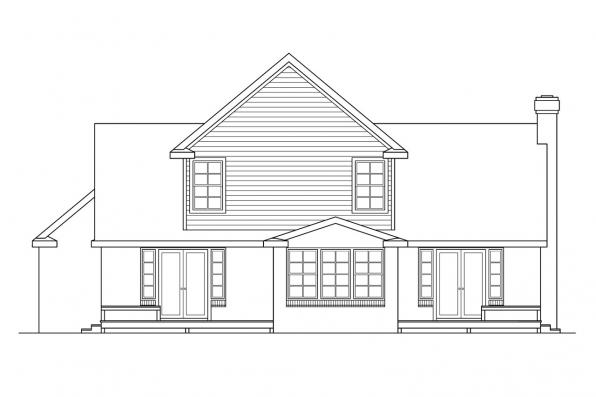 Small House Plan - Birmingham 10-206 - Rear Elevation