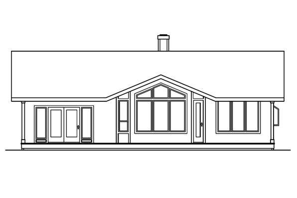 Small House Plan - Connelly 30-375 - Rear Elevation