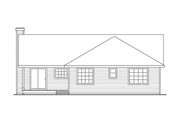 Small House Plan - Coulee 10-220 - Rear Elevation