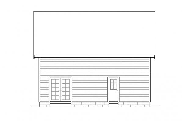 Small House Plan - Dickenson 30-081 - Rear Elevation
