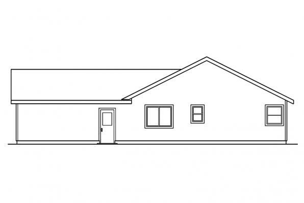 Small House Plan - Elwood 30-293 - Rear Elevation