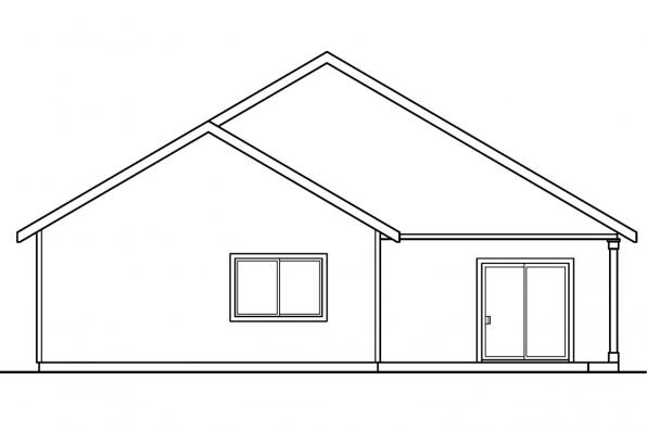 Small House Plan - Emmett 30-234 - Rear Elevation