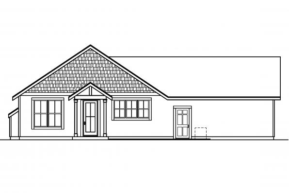 Small House Plan - Evelyn 30-480 - Rear Elevation