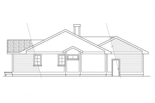 Small House Plan - Hampton 10-028 - Rear Elevation