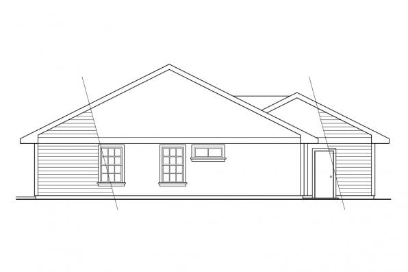 Small House Plan - Harney 10-223 - Rear Elevation