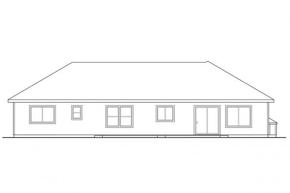 Small House Plan - Hillsboro 30-057 - Rear Elevation