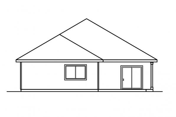 Small House Plan - Holbrook 30-190 - Rear Elevation
