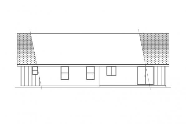 Small House Plan - Jerico 10-042 - Rear Elevation