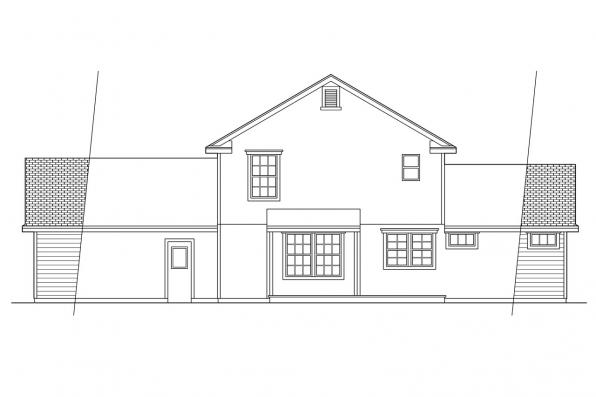 Small House Plan - Newberg 10-138 - Rear Elevation