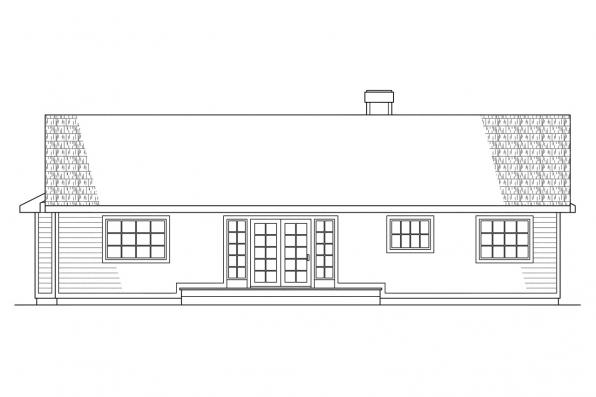 Small House Plan - Phoenix 10-061 - Rear Elevation